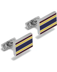 Mulberry - Rectangular University Stripe Cufflinks - Lyst