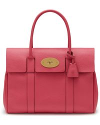 Mulberry - Heritage Bayswater In Geranium Pink Small Classic Grain - Lyst