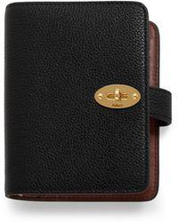 Mulberry - Postman's Lock Pocket Book In Black Small Classic Grain - Lyst