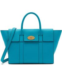 Mulberry - Bayswater With Strap In Azure Small Classic Grain - Lyst