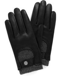 Mulberry - Men's Biker Gloves In Black Smooth Nappa - Lyst