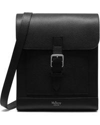 Mulberry - Chiltern Messenger In Black Natural Grain Leather - Lyst