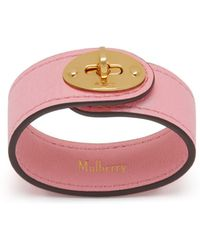 Mulberry - Bayswater Leather Bracelet In Sorbet Pink Small Classic Grain - Lyst