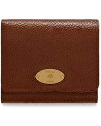 Mulberry - Plaque Small French Purse In Oak Natural Grain Leather - Lyst 76be4f7ca3fdd