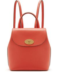 Mulberry - Mini Bayswater Backpack In Coral Rose Small Classic Grain - Lyst