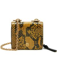 Mulberry - Clifton Leather And Python Chain Purse - Lyst 6994c2e069c27