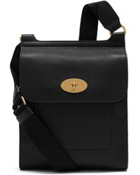 Mulberry - New Antony Messenger In Black Small Classic Grain - Lyst