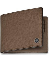 Mulberry - 8 Card Wallet With Tree Plaque In Clay Cross Grain Leather - Lyst