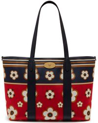 26c606558b2a Mulberry - Bayswater Tote In Hibiscus Red Geo Floral Canvas And Silky Calf  - Lyst