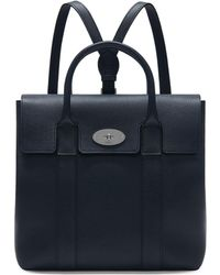 Mulberry - Bayswater Backpack In Midnight Small Classic Grain - Lyst