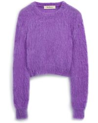 Mulberry - Melody Jumper In Cassis Mohair - Lyst