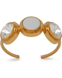 Mulberry - Three Coin Bracelet In Gold And White Brass, Plexi And Strass - Lyst