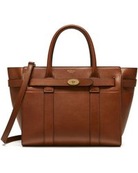 Mulberry - Small Zipped Bayswater In Oak - Lyst