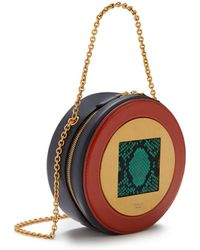 48cd654aea Mulberry - The Roundabout Clutch In Viridian Green Silky Calf And Ayers -  Lyst