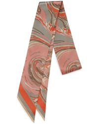 Mulberry - Bag Scarf In Pink Marble - Lyst