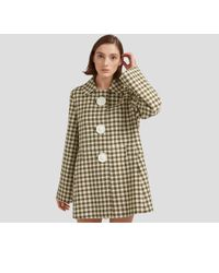Mulberry - Renee Coat In Dark Olive Gingham Check - Lyst