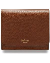 Mulberry - Small Continental French Purse In Oak Natural Grain Leather - Lyst
