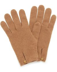 Mulberry - Cashmere Gloves In Camel Cashmere - Lyst