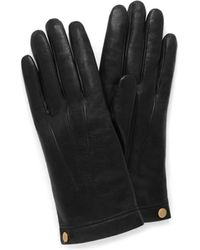 Mulberry - Soft Nappa Leather Gloves In Black Nappa Leather - Lyst