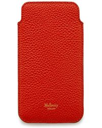 Mulberry - Iphone Cover And Card Slip In Hibiscus Red Small Classic Grain - Lyst