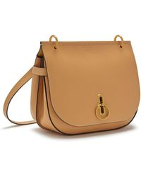 Mulberry - Amberley Satchel In Dark Golden Yellow Silky Calf - Lyst