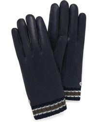 Mulberry - Men's Rivet Gloves In Bright Navy Smooth Nappa - Lyst
