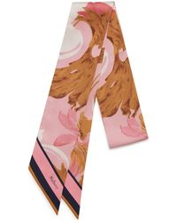 Mulberry - Bag Scarf In Sorbet Pink Blossom - Lyst