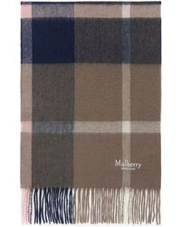Mulberry - Small Check Lambswool Scarf In Sorbet Pink Lambswool - Lyst