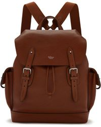 Mulberry - Heritage Backpack In Oak Natural Grain Leather - Lyst