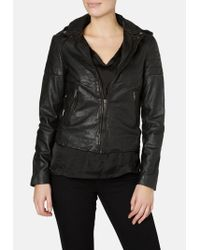 Muubaa - Presley Black Leather Biker Jacket - Lyst