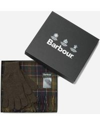 Barbour - Scarf And Glove Set - Lyst
