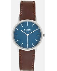 Nixon - The Porter Leather Watch - Lyst