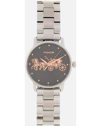 COACH - Grand Classic Logo Watch - Lyst