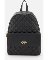 Love Moschino | Quilted Logo Backpack | Lyst