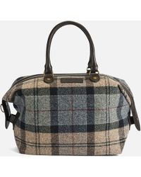 Barbour - Munro Tartan Mini Holdall Bag - Lyst