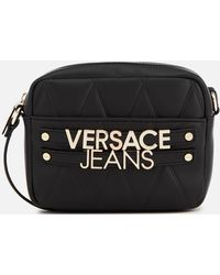 f45ebba62e96 Versace Jeans - Quilted Logo Small Cross Body Bag - Lyst