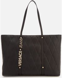 Versace Jeans - Quilted Logo Tote Bag - Lyst
