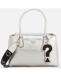 7fe5450dfc2304 Guess - Felix Silver Tote Bag - Lyst