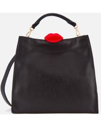 Lulu Guinness - Large Locked Lips Anita Tote Bag - Lyst
