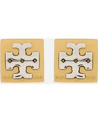 Tory Burch - Block-t Logo Stud Earrings - Lyst