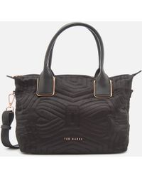 Ted Baker - Akebia Quilted Bow Small Nylon Tote Bag - Lyst