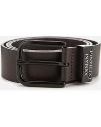Armani Exchange - Leather Belt - Lyst