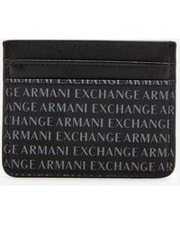 Armani Exchange - All Over Logo Card Holder - Lyst