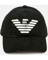 c62a60fe5c8 Lyst - Emporio Armani Embroidered Logo Baseball Cap in Black for Men