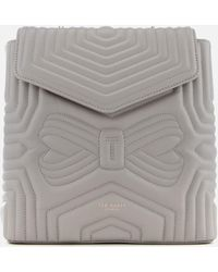 Ted Baker - Coletee Quilted Bow Leather Backpack - Lyst