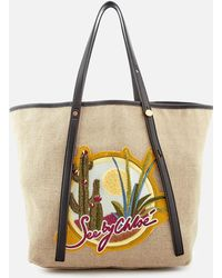 Logo-embroidered tie-dye canvas tote See By Chlo ohh1WQ