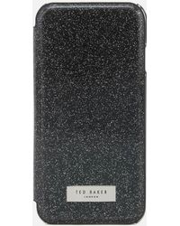 Ted Baker - Glitsie Glitter Iphone 8 Mirror Case - Lyst