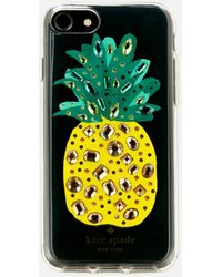 Kate Spade - Jewelled Pineapple Iphone 8 Cover - Lyst