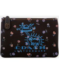 COACH - X Keith Haring Turnlock 26 Pouch - Lyst