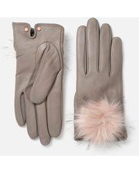 Ted Baker - Pomi Pom Gloves - Lyst